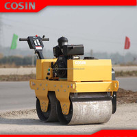 50L water tank forward and back walk behind vibratory road roller with certification