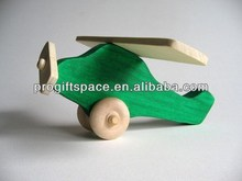 hot new product for 2017 eco friendly Green Wooden Airplane for kids alibaba China