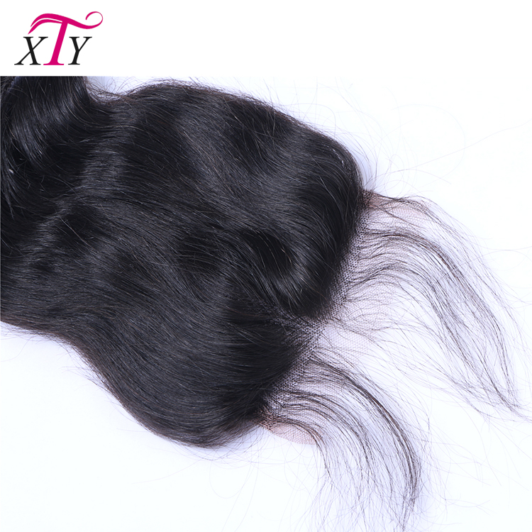 100% Virgin Brazilian Human Hair Pre Plucked Lace Closure Loose Wave Bleached Knots Cheap 5x5 Lace Closure With Baby Hair