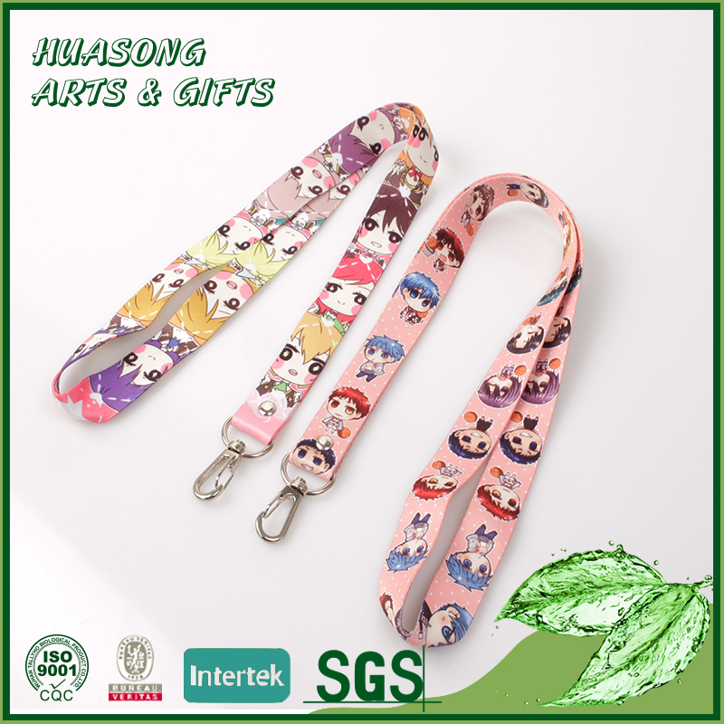 Best quality cheap heat transfer cute girls neck lanyard for kids