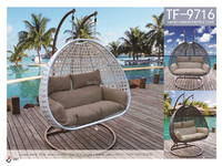 rattan outdoor furniture two seat patio swings