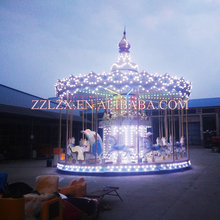 Amusement park attractions carousel horse ride wholesale playgrounod equipment
