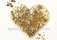 sequin heart gold sparkle patches