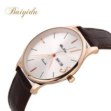 DINUO Brand Quartz Leather Braided Charm Lady Men Watch