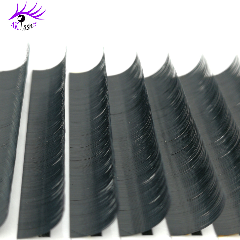 New Technique 0.15MM Ellipse Flat Double Tips Individual Eyelash Extension with forked tip Silk mink extension