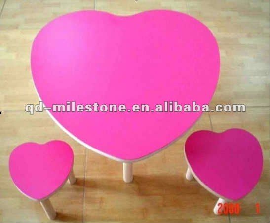 The Factory Detail Sale heart shape kids chair and table