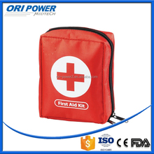 OP CE FDA ISO approved manufacture red fashion nylon bag camping safety tools first aid kit