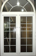 double glass PVC casement window