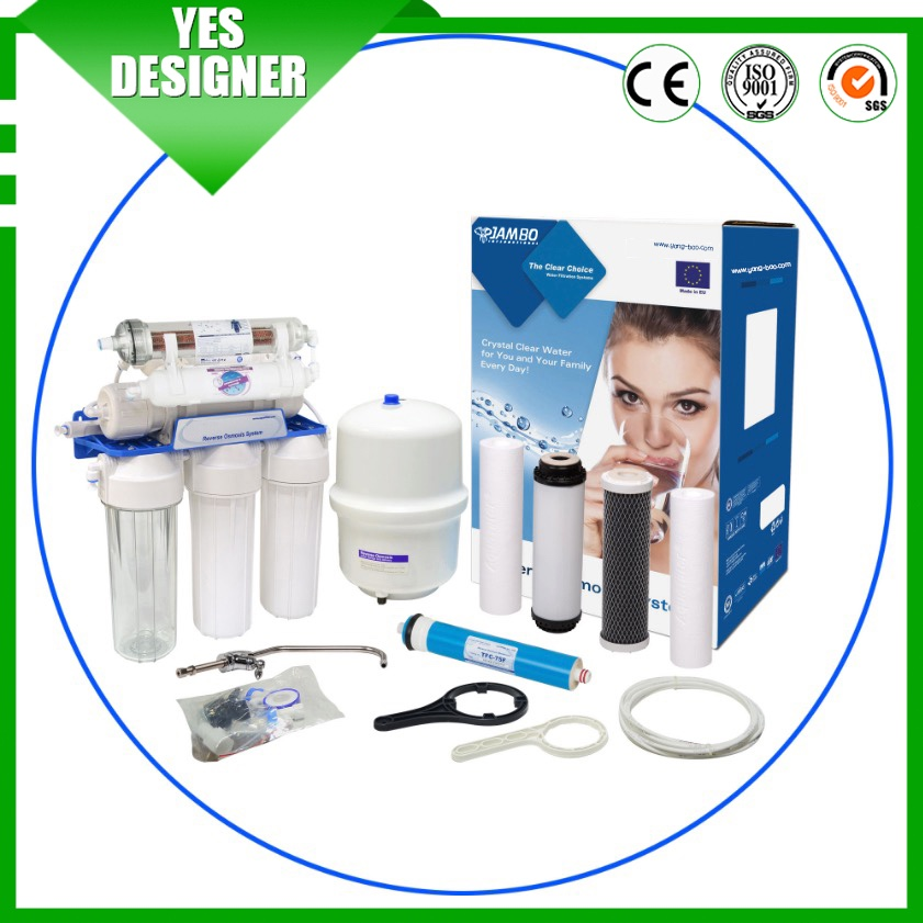 auto flush type reverse osmosis 600 gpd ro system automatic central water purification