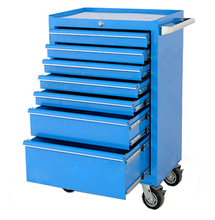Professional 27in 7 drawers workshop galvanized metal tool trolley roller cabinets
