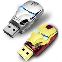 Creative Metal Iron Man Usb Flash Drive Pen Drive 16gb Usb Memory Stick for promotional gift