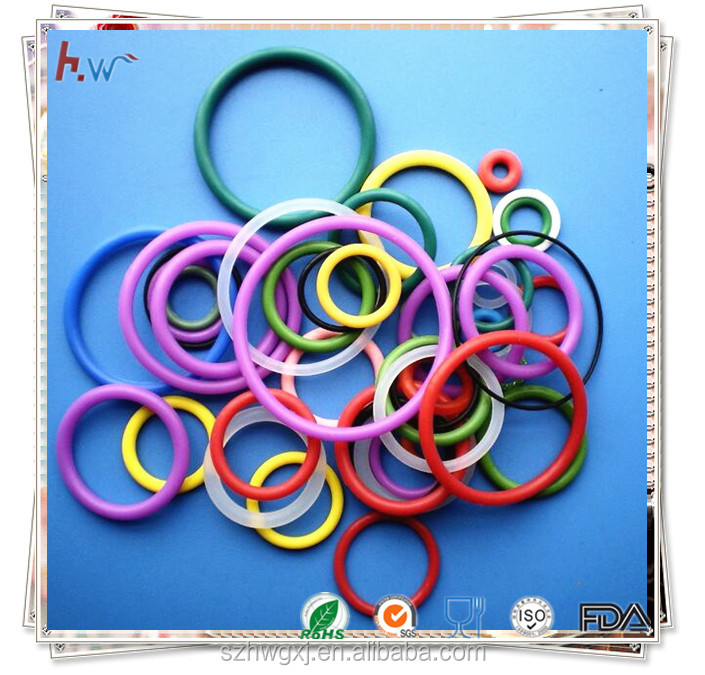 Colorful soft silicone rubber o ring