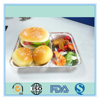 airline two compartments catering food trays