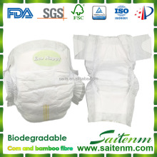 100% Natural Fiber Biodegradable Disposable Baby Diaper