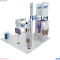Detian Display offer trade show expo stand, portable aluminum exhibition booth design for abroad
