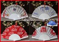 Personalized plastic foldable fan with logo printing