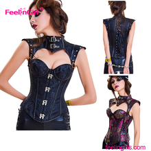 2017 Western Style High Quality Sexy Mature Women Punishment Corset