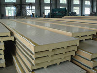 Wall / roofing steel color 50mm PU sandwich Panel / Polyurethane board from china supplier