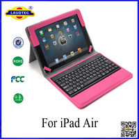 Bluetooth Wireless Detachable Keyboard Folding Leather Case Cover for iPad Air