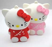 Cute Hello kitty 5500Mah Li-ion portable battery bank with USB port for samsung galaxy S4 mini smartphone