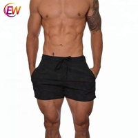 Wholesale Bustom Logo Black Male Gym Wear Shorts