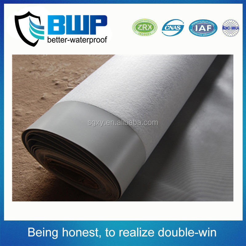 cheap price self-adhesive H 0.8mm PVC waterproof membrane