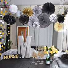 New Product Pom Pom Ball Tissue Paper Fan Hanging Garland Accordion Lantern Paper Party Decoration Wholesale Party supplies