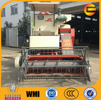 double cylinder sacks unloading 61hp paddy rice combine harvester
