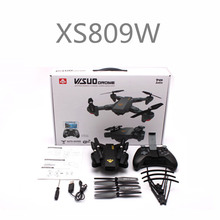 Visuo XS809 XS809W 2.4G hovering racing helicopter Foldable FPV RC drones with camera