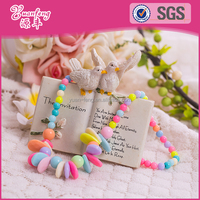 Hot sale custom plastic colorful beads fashion necklace