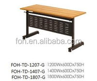 Guangzhou Wooden Folding Top with Metal Stool Office Training Table (FOH-TD-1207-G)
