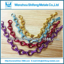 colored aluminum chain links,Aluminum decorative chain
