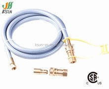 csa approved lpg tank adapter with quick connect pvc hose connector