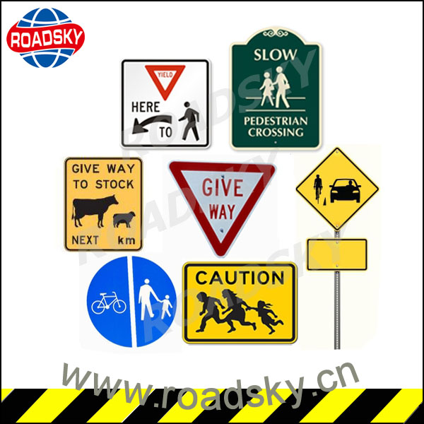 Personalized Luminous Pedestrian Safety Signs On The Road
