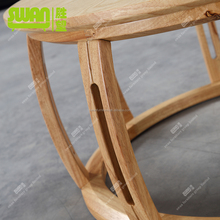 3099 round solid wood dolphin coffee table