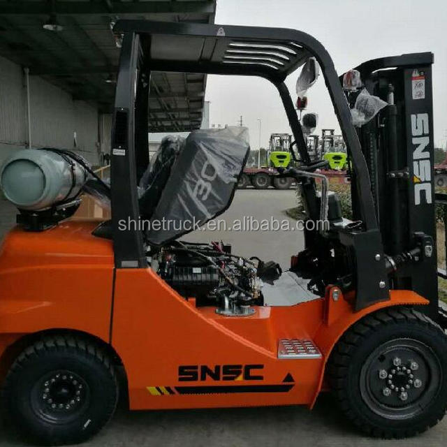 China new LPG forklift 3ton with automatic hydraulic transmission