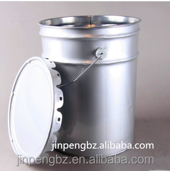 25L tin bucket with steel handle for latex paint, coating or other chemical products