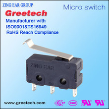 sliding magnetic push button micro switch for electronic products with CE, ROHS certificate