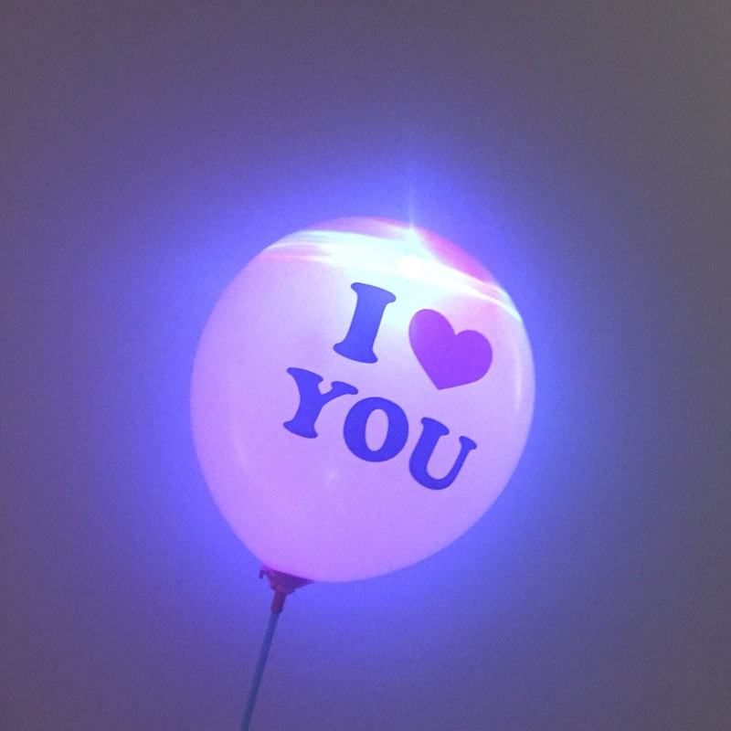 New Arrival Factory Direct Cheapest Hot Selling I Love You Wedding Decoration LED Balloon