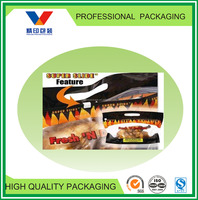 slider zip lock plastic bag/plastic food grade zipper bags for hot chicken