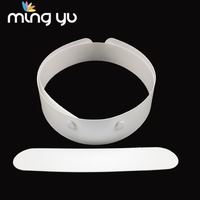 Handsome Double Garment Accessories White Priest Clothing Clerical Collars Band For Clothing With Snap