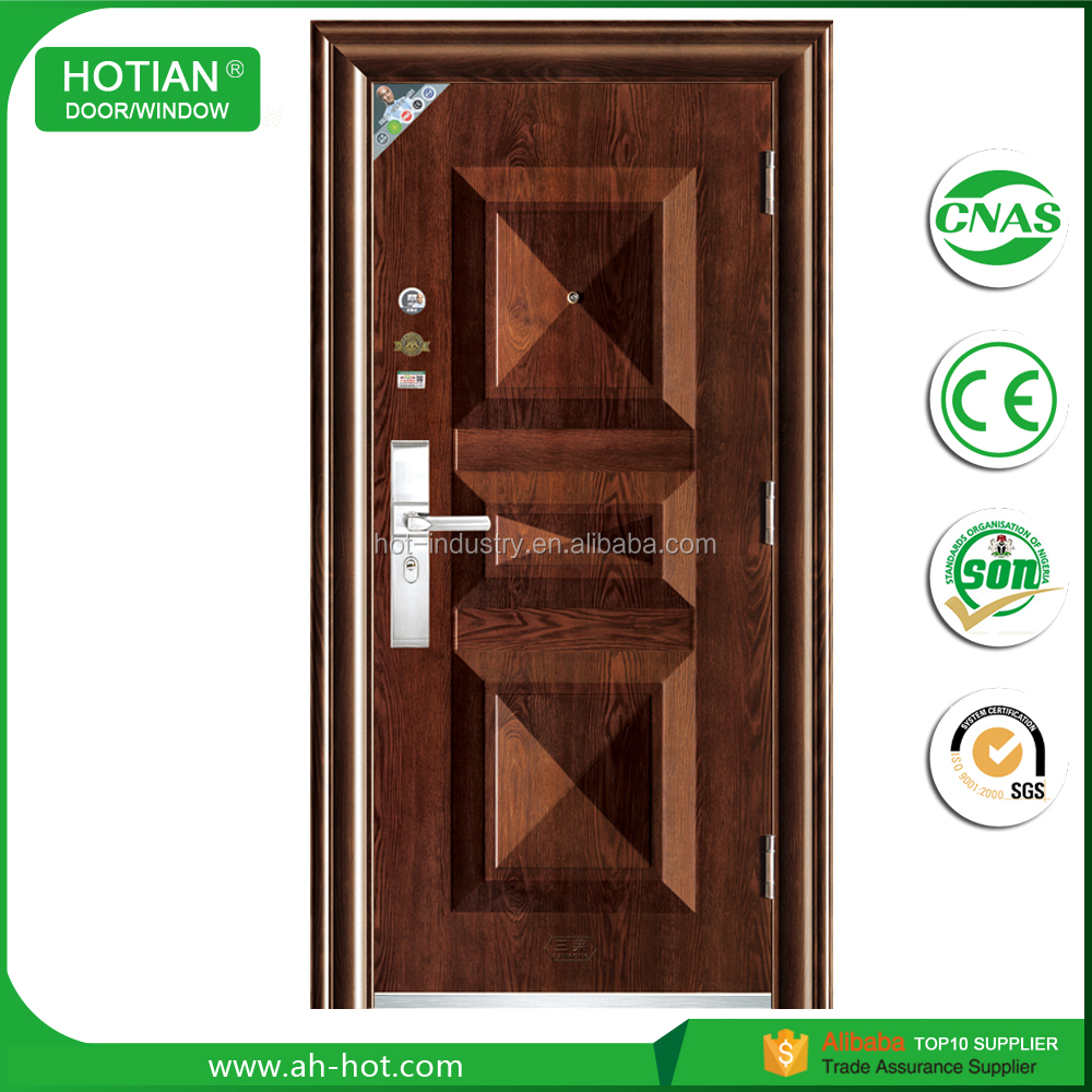 Steel apartment building entry doors factory price used exterior steel doors for sale