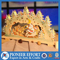 wooden santa with sleigh bridge light for christmas decorations window led lights