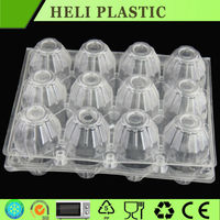 Clear plastic egg packaging tray/box/carton