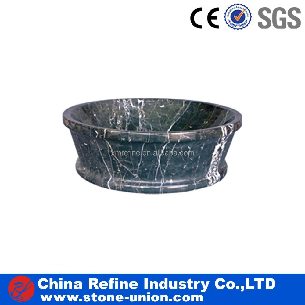 Natural Dark Blue Cheap Carving Marble Stone Basin