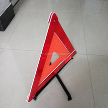car accident collapsible reflective warning triangle with fabric