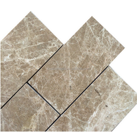 "Emperador Light 3"" x 6"" Polished Marble Floor and Wall Tile"