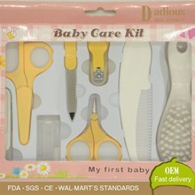 kids care products set, baby grooming kits with color box&PVC inner holding