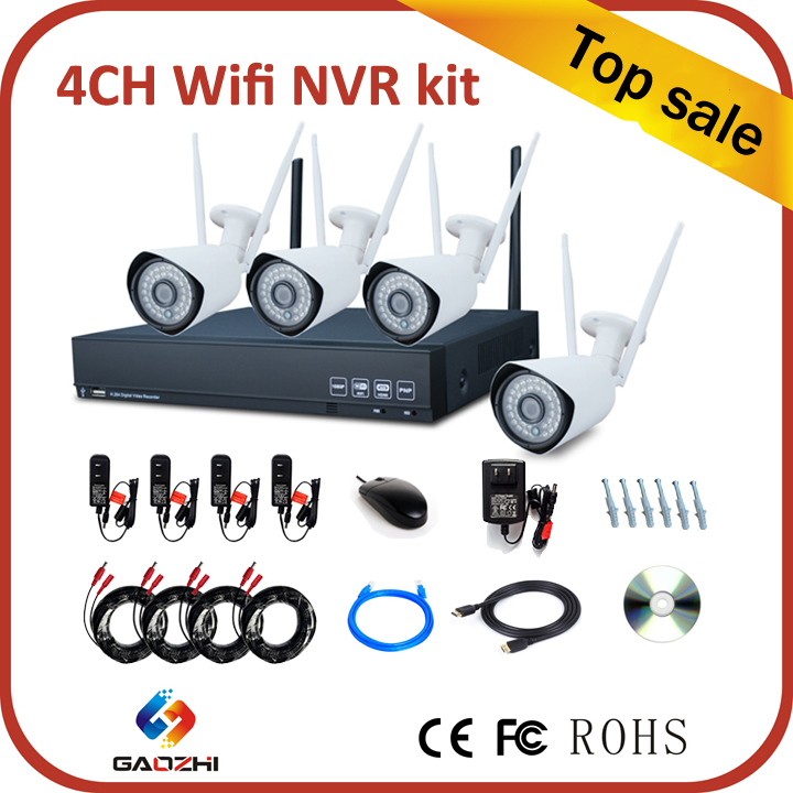 New design free software 4ch wifi nvr kits cctv kits