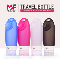 Portable convenient silicone travel bottles